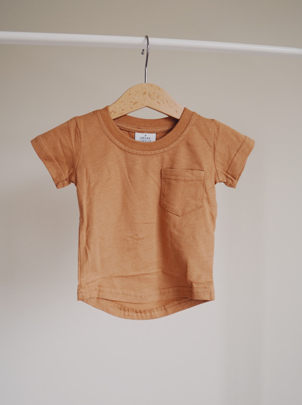 Brushed Cotton Tee - Camel
