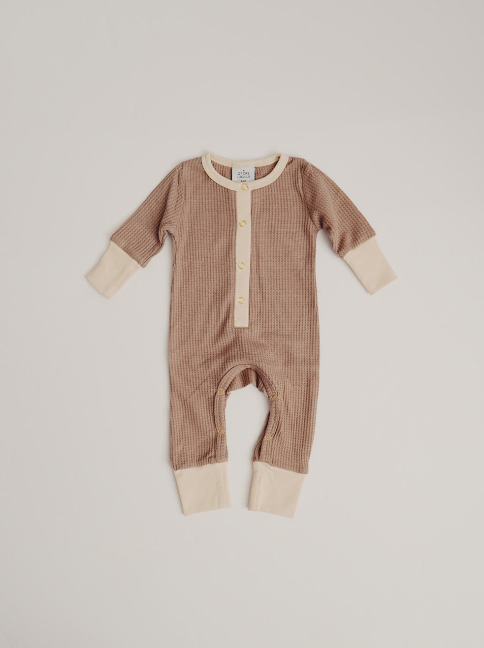 Waffle Romper - Taupe
