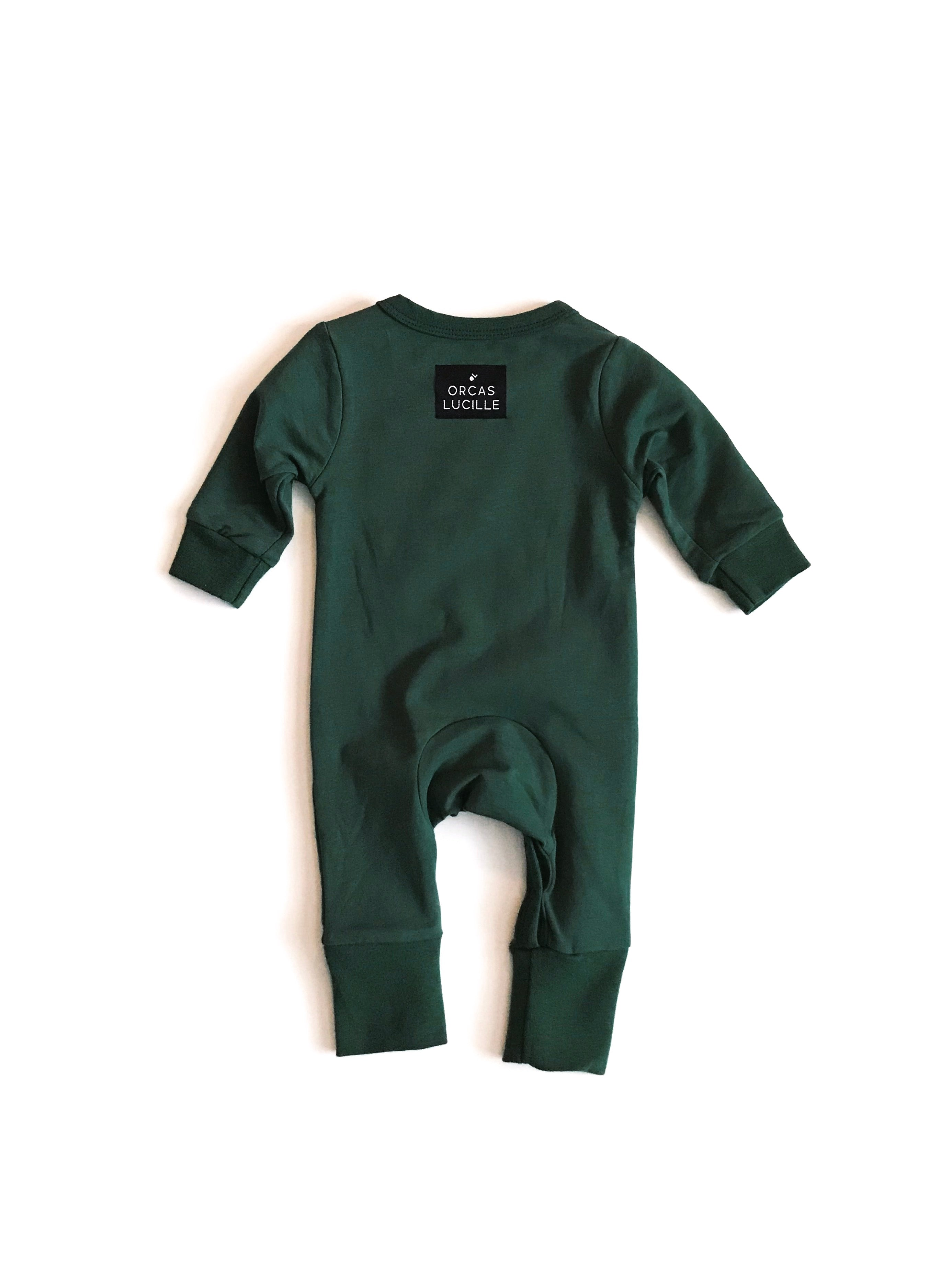 Sweatshirt Romper - Forest Green