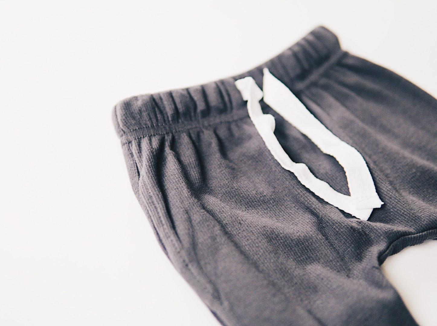 Ribbed Pocket Harems - Charcoal