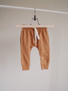 Brushed Cotton Joggers - Camel