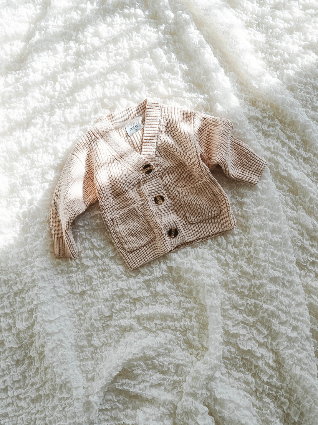 Chunky Knit Cardigan - Cream