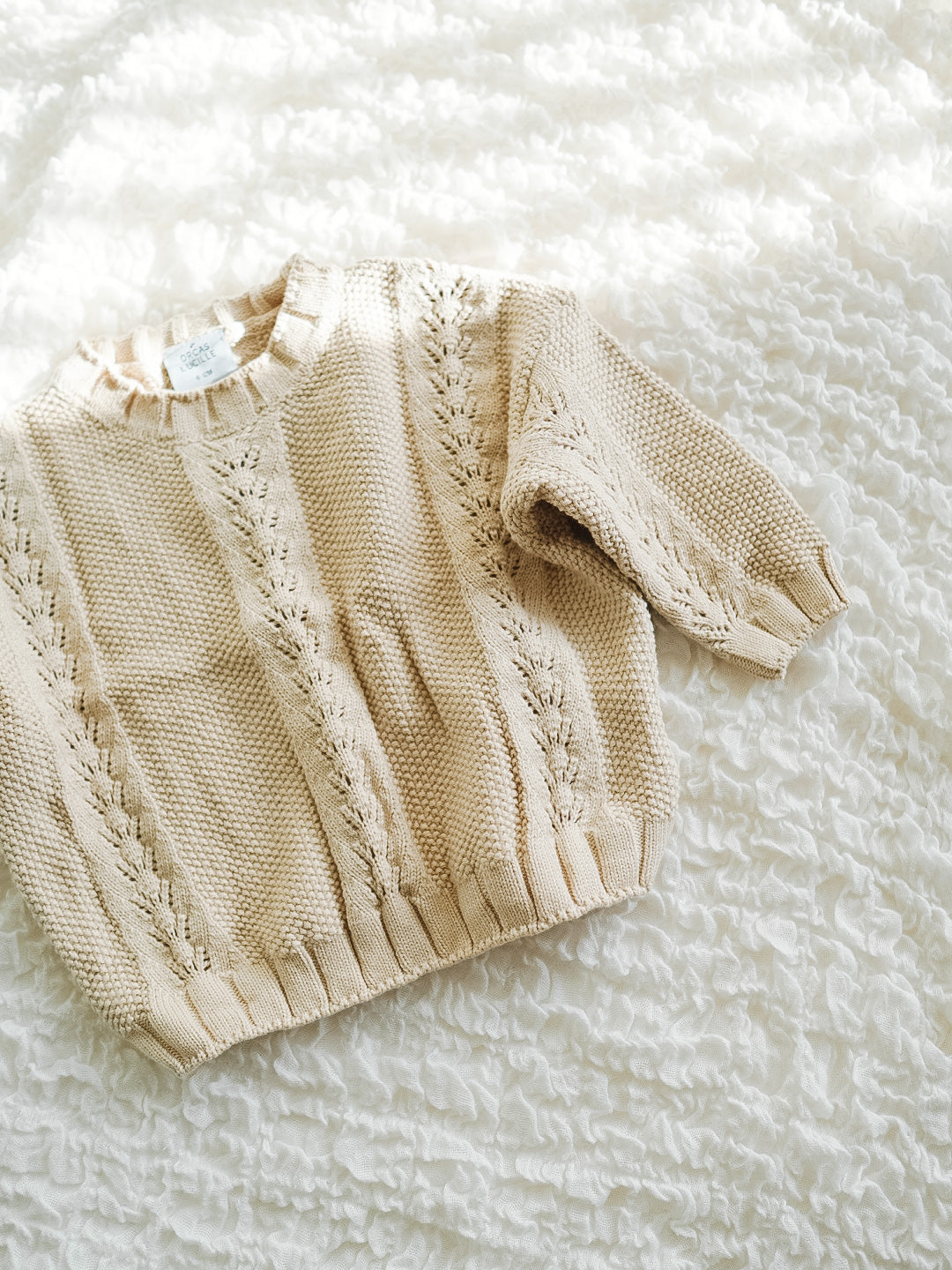 Oversized Knit Sweater - Sand
