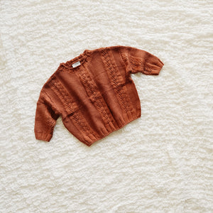 Oversized Knit Sweater - Baked Clay