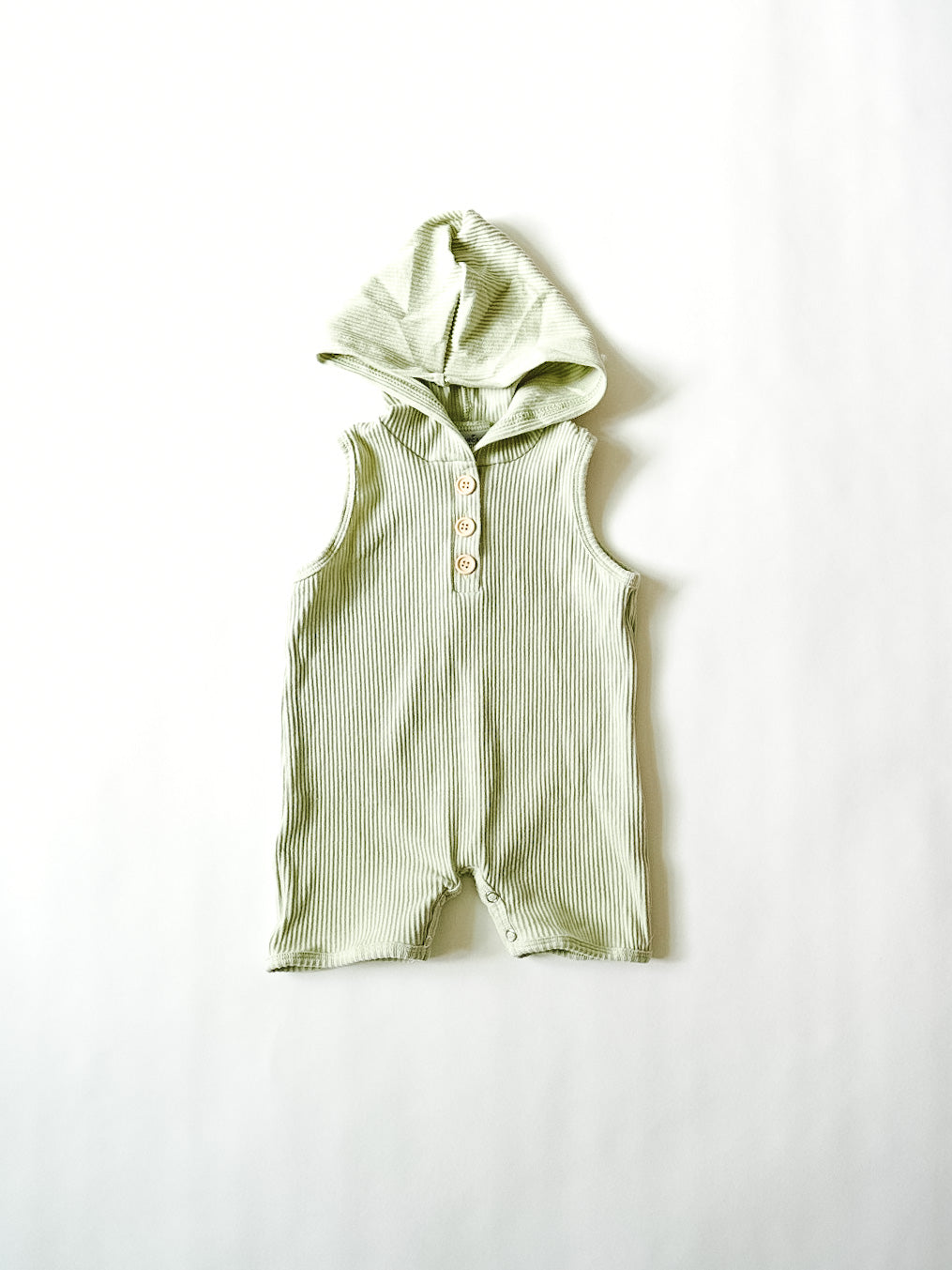 Hooded Shortie Romper - Meadow