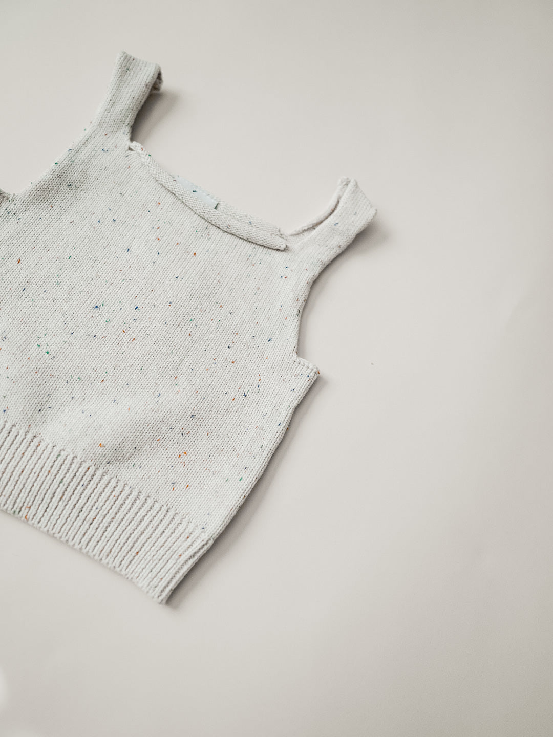 Speckled Knit Tank - Confetti