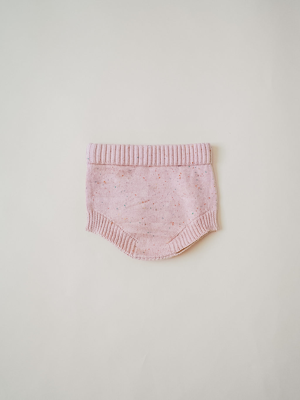 Speckled Knit Bloomer - Peony