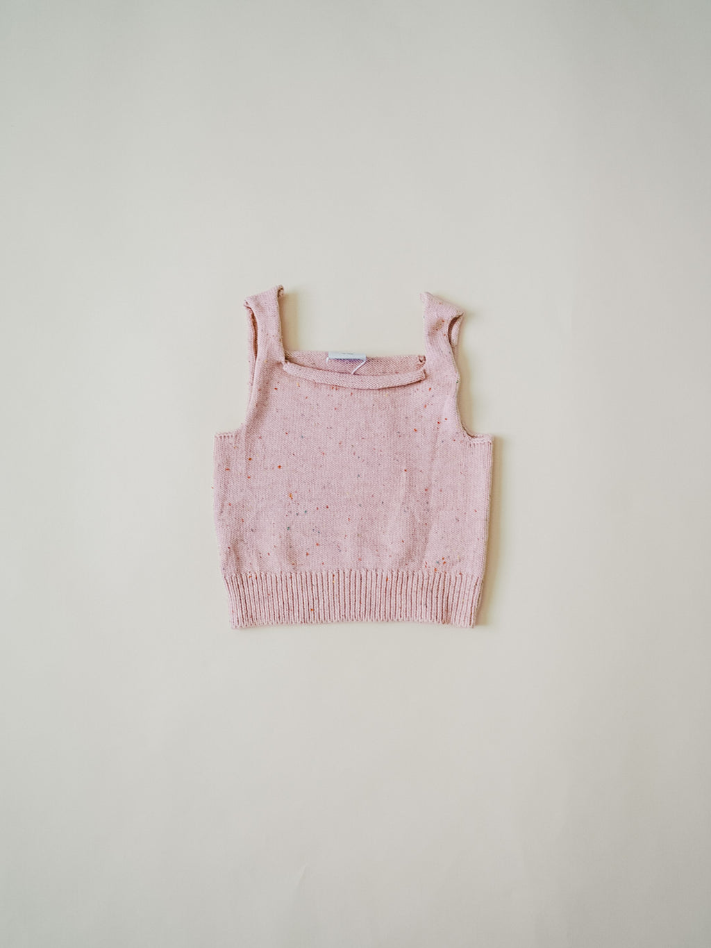 Speckled Knit Tank - Peony