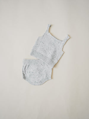 Speckled Knit Tank - Heather