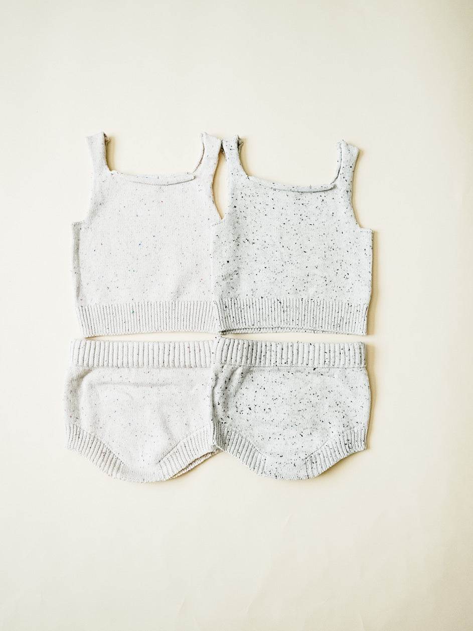 Speckled Knit Bloomer - Confetti
