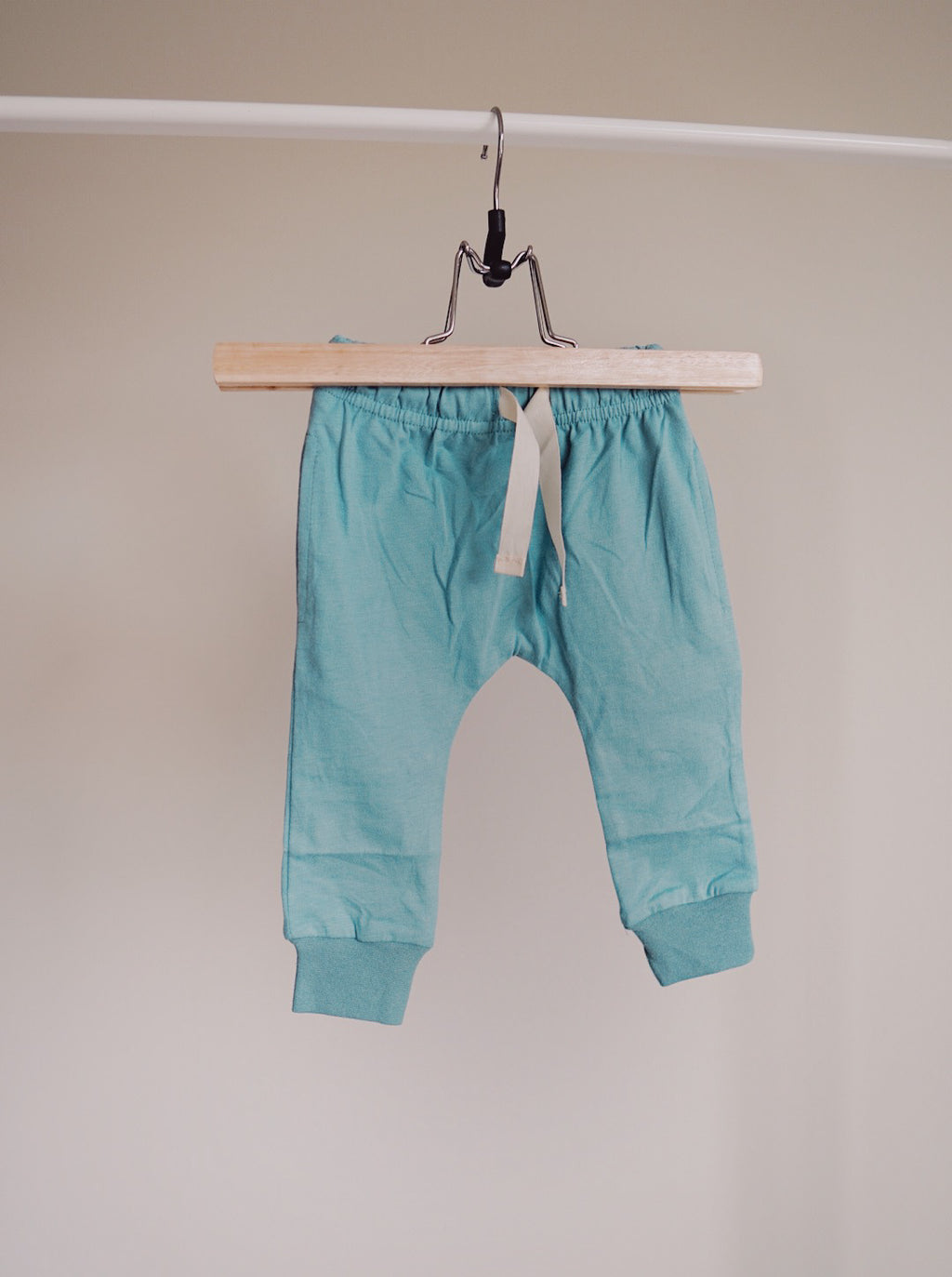 Brushed Cotton Joggers - Teal