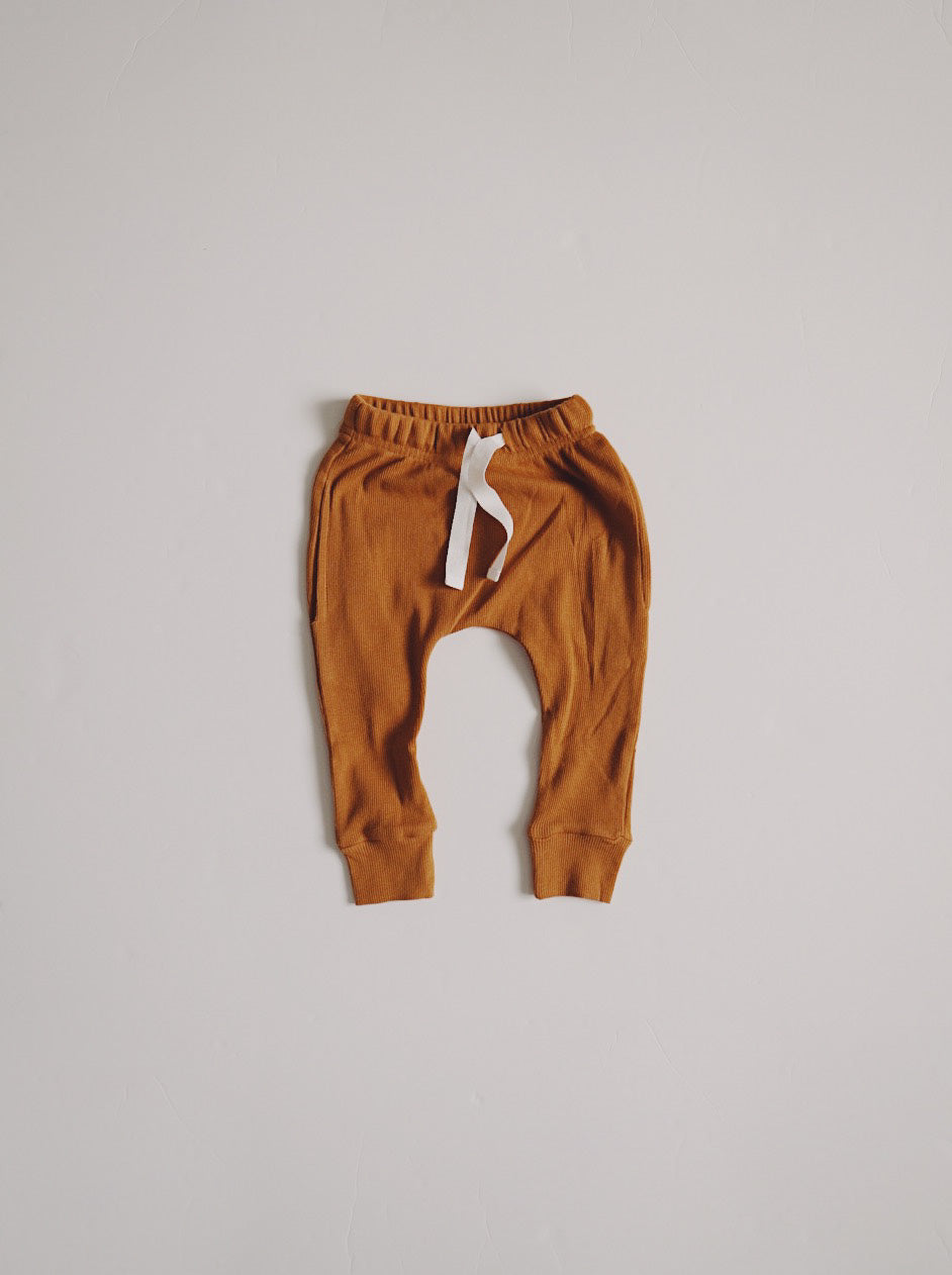 Ribbed Pocket Joggers - Autumn Maple