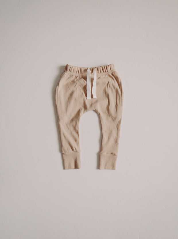 Ribbed Pocket Joggers - Almond 1