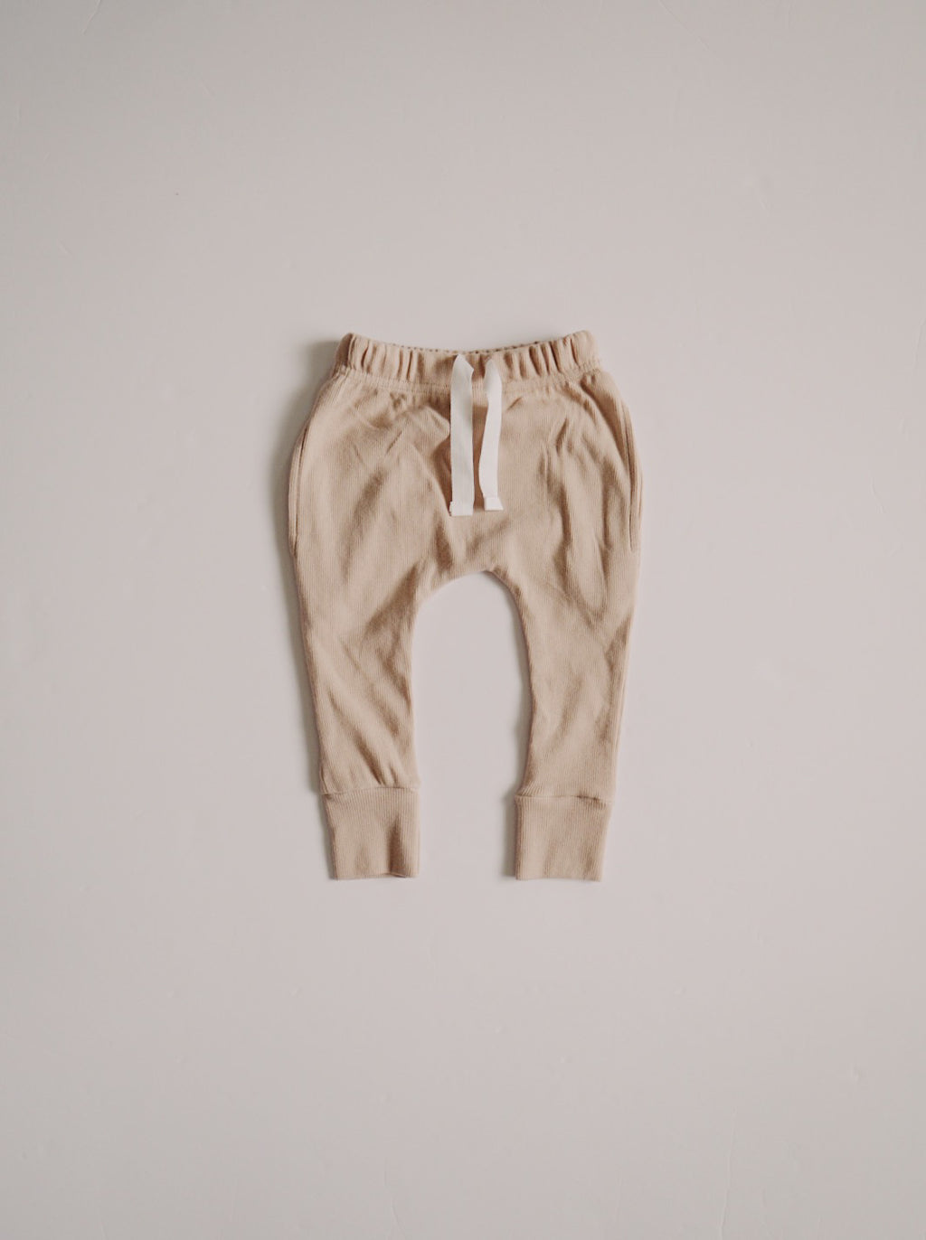 Ribbed Pocket Joggers - Almond