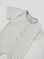 Shortie Romper - Gray Stripe