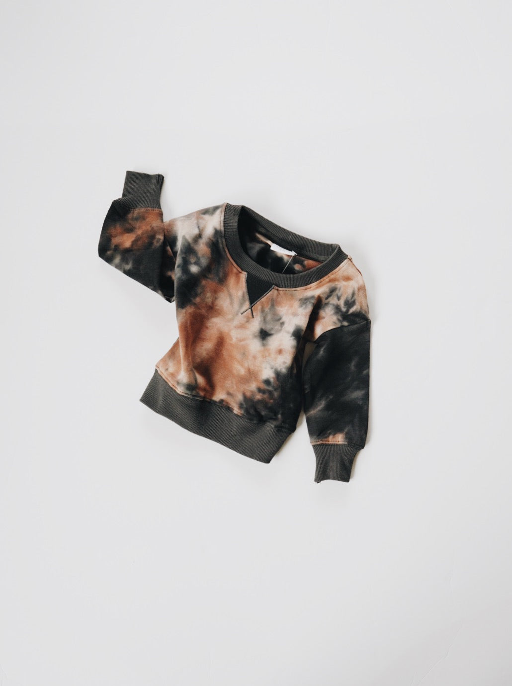 Acid Wash Crew Sweatshirt - Granite