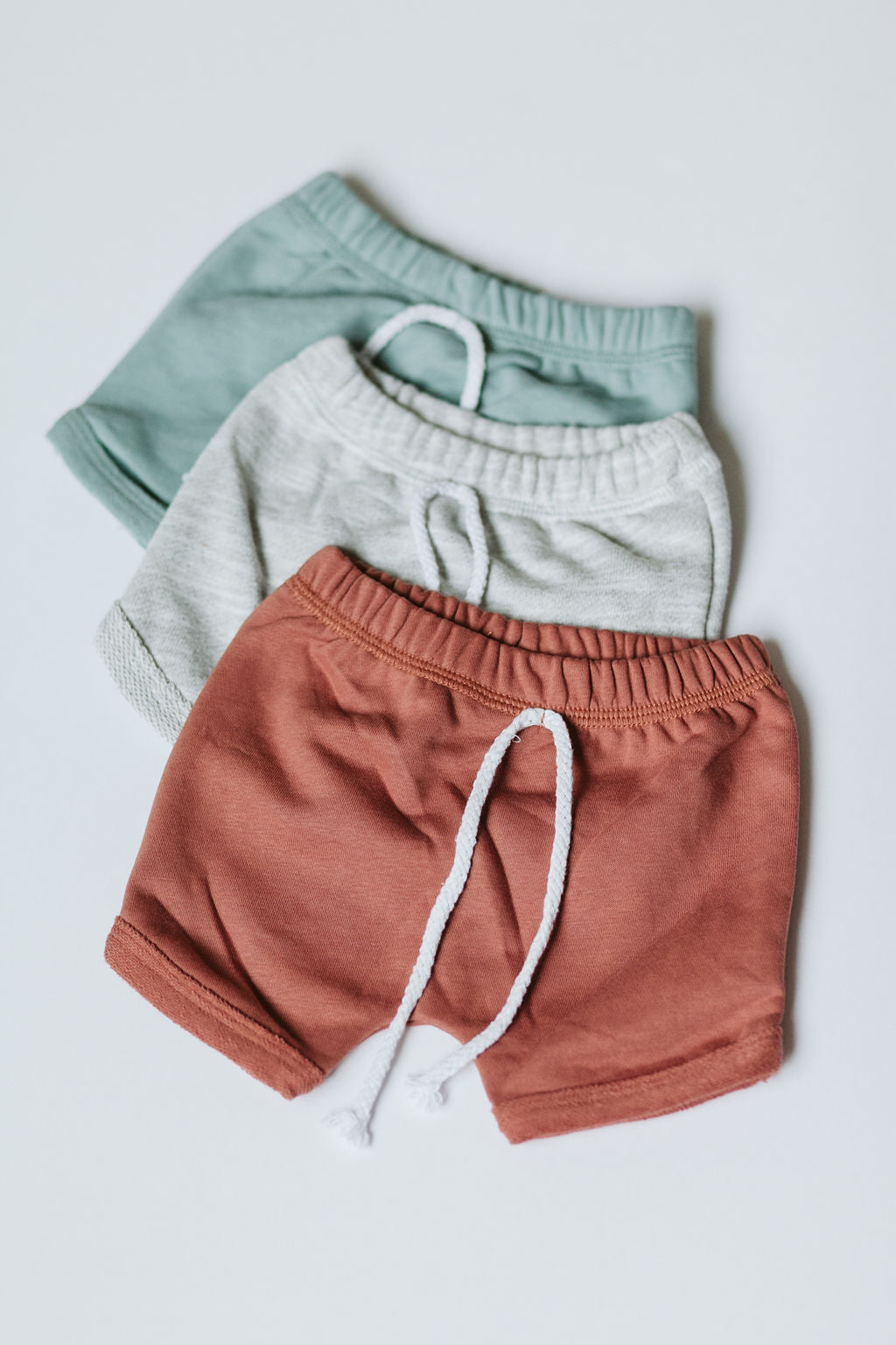 Curved Hem Harem Shorts - Terracotta