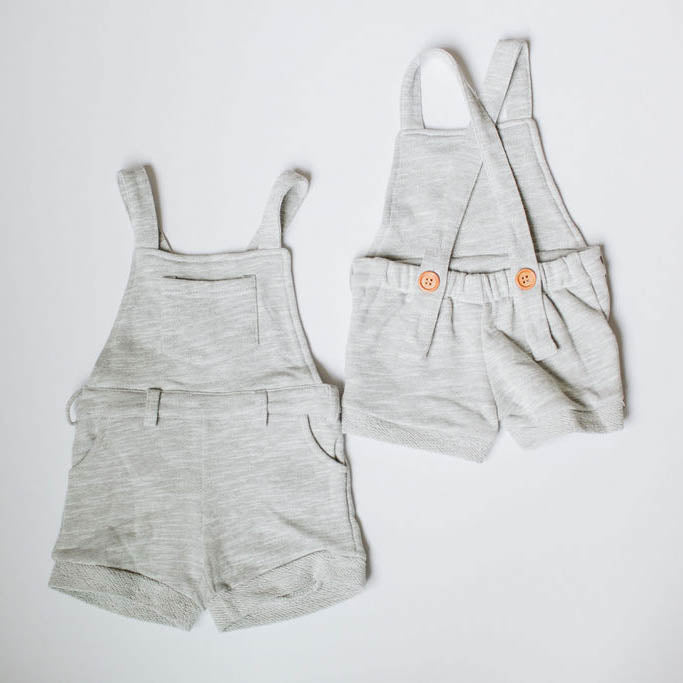 Short Overalls - Heather Grey