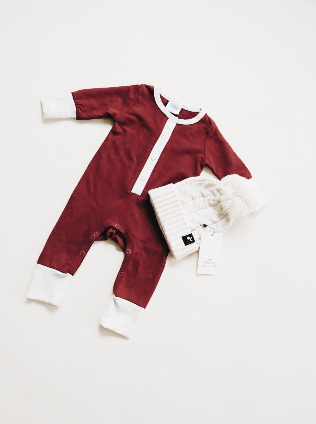 Long Sleeve Romper - Syrah