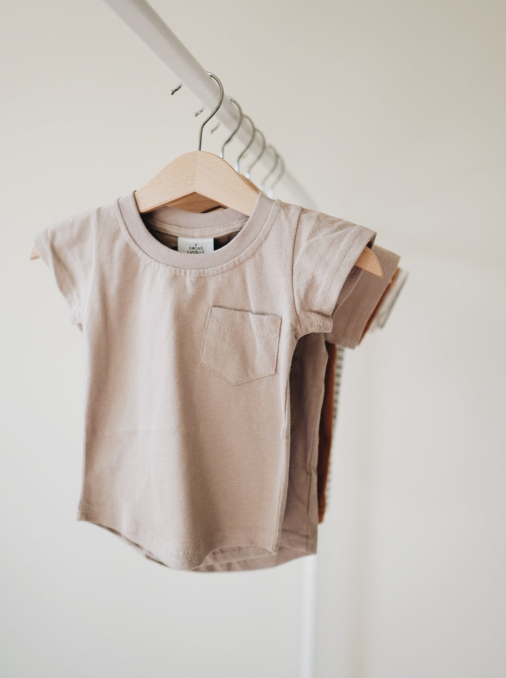 Brushed Cotton Tee - Mushroom