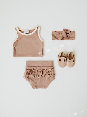 Ruffle Bloomer - Pale Mauve