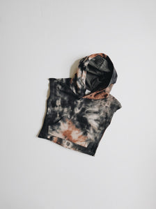 Acid Wash Cut Off Hoodie - Granite