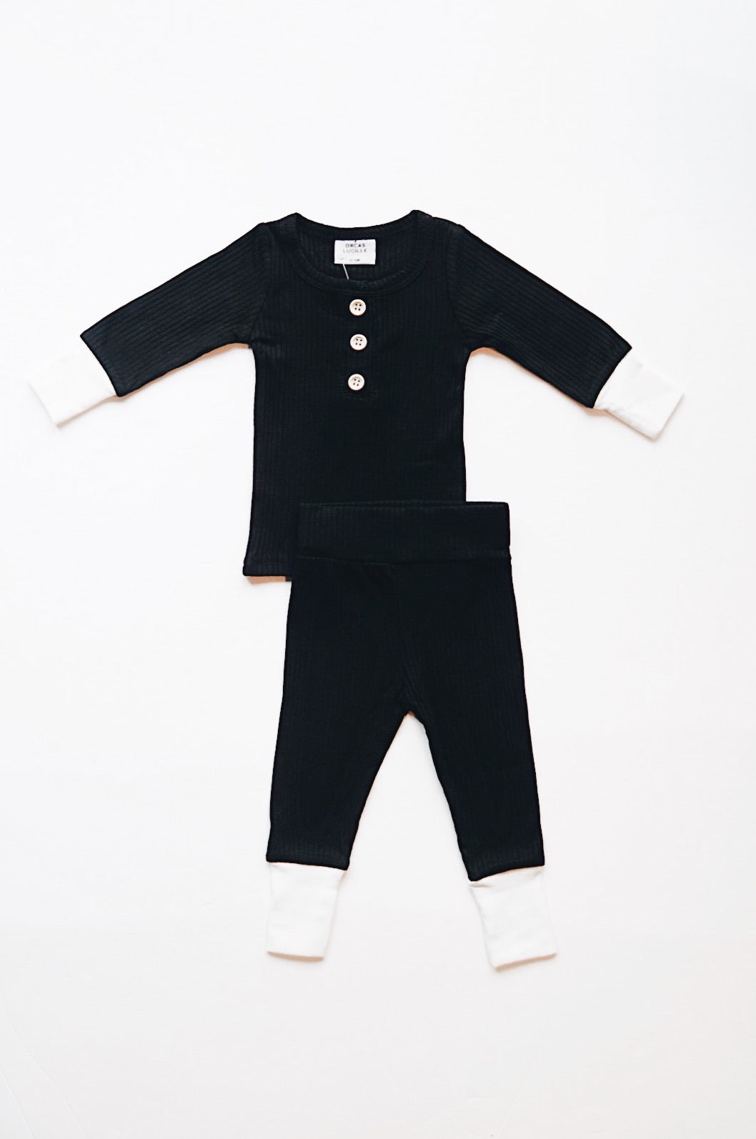 Ribbed Set - Black