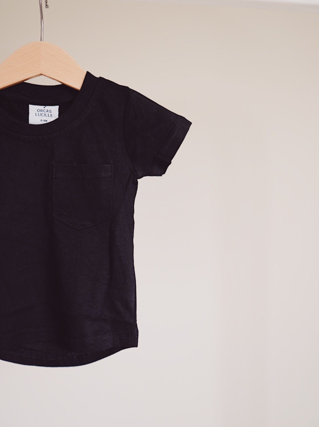 Brushed Cotton Tee - Black