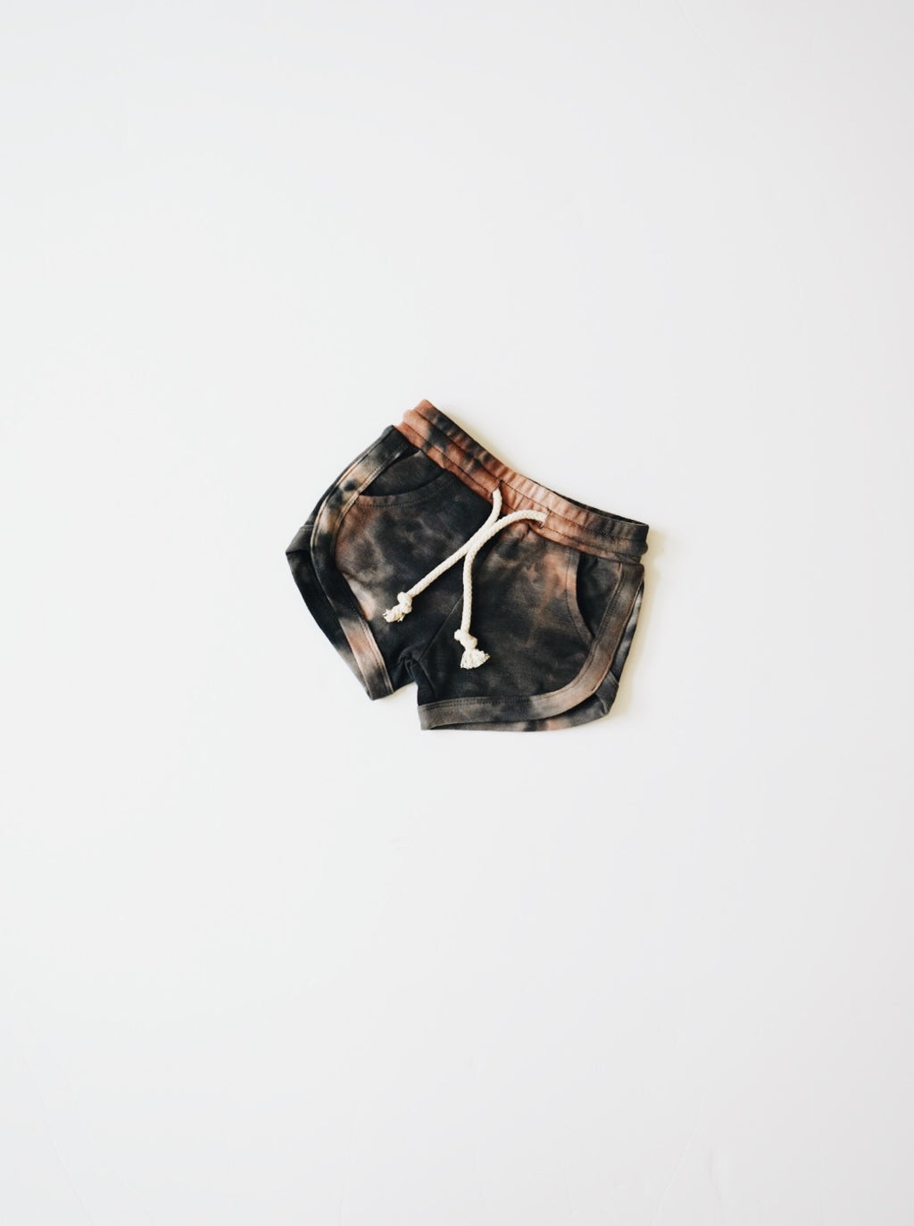 Acid Wash Track Shorts - Granite