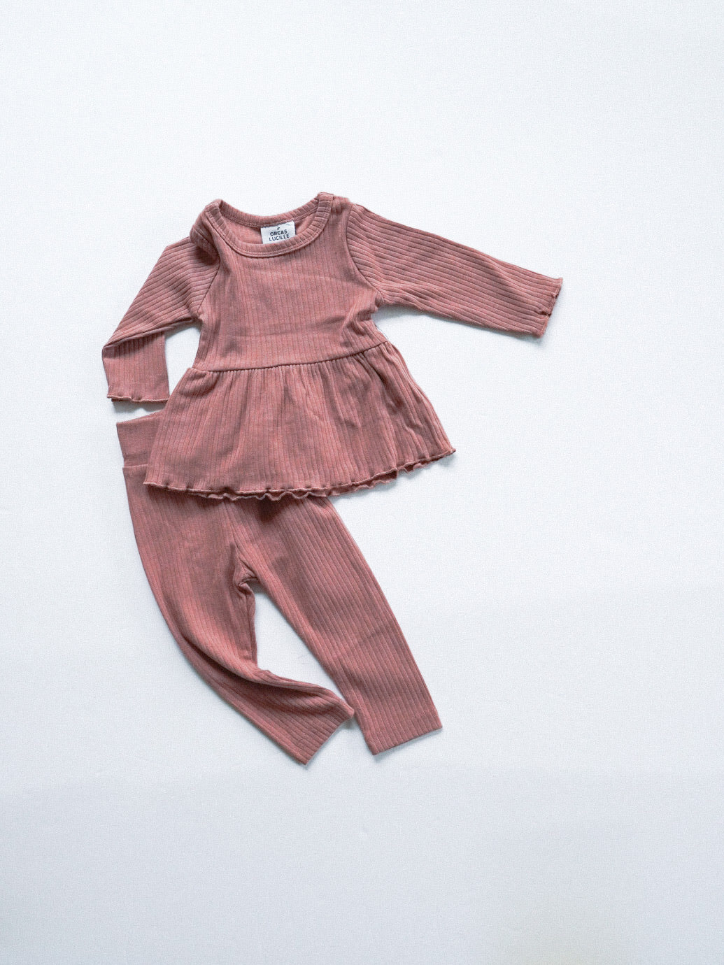 Ribbed Leggings - Dusty Rose