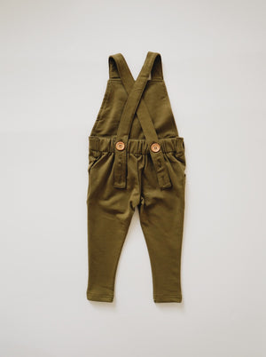 Long Overalls - Olive