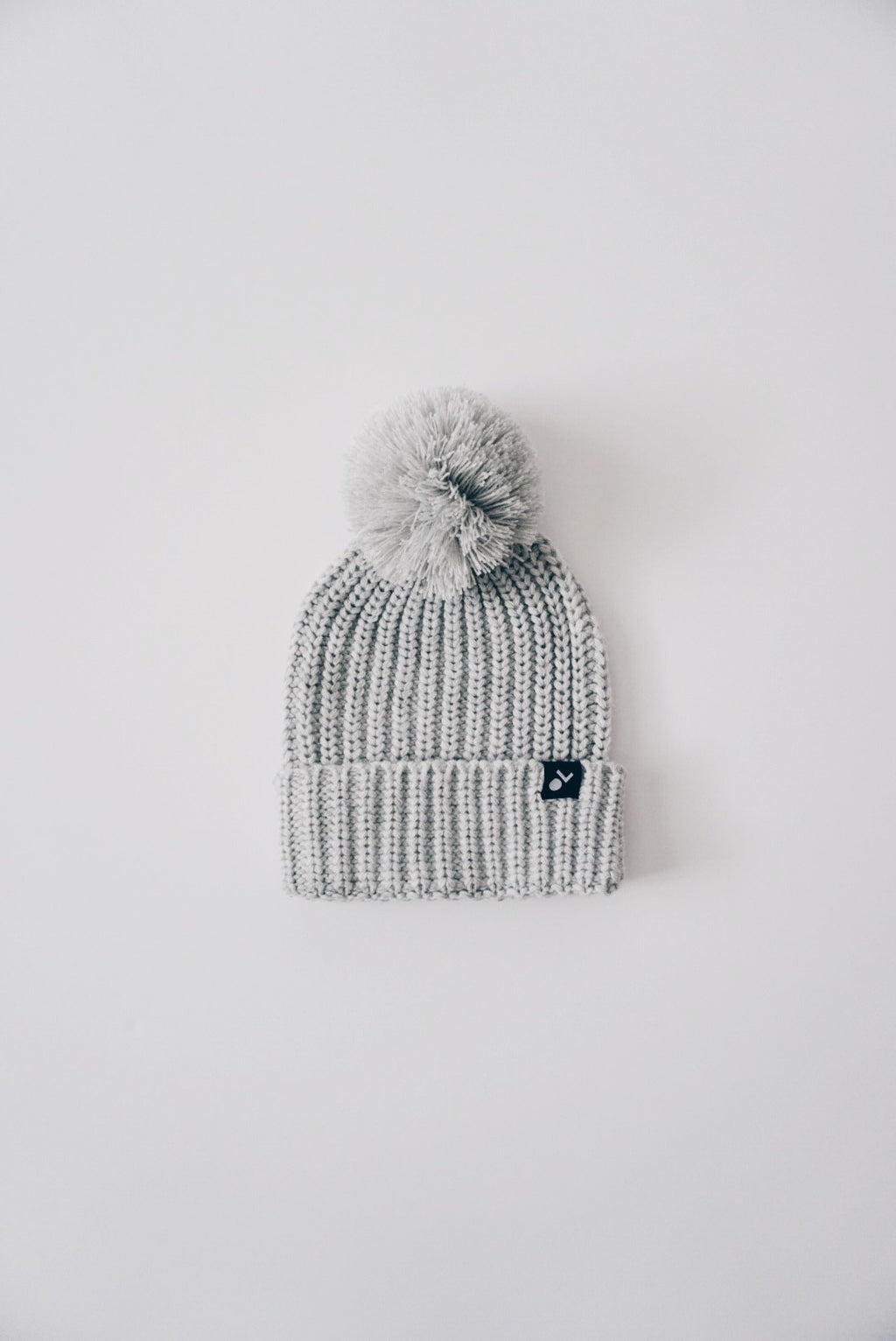 Knit Pom Beanie - Winter Grey