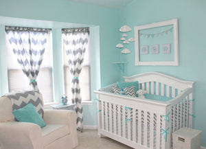 Design Idea | Aqua and Gray Chevron Nursery