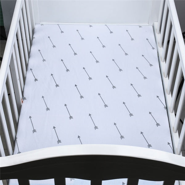 Cotton Fitted Crib Sheet - Arrows