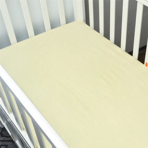 Cotton Fitted Crib Sheet - Pale Yellow
