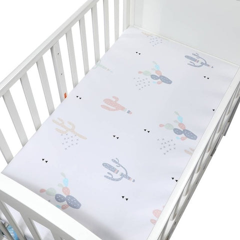 Cotton Fitted Crib Sheet - Cactus