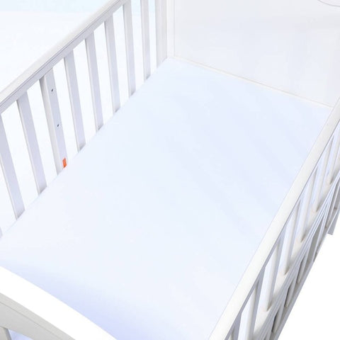 Cotton Fitted Crib Sheet - Solid White