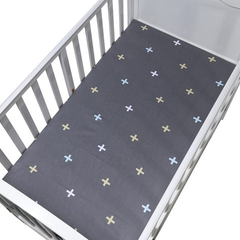 Cotton Fitted Crib Sheet - Cross