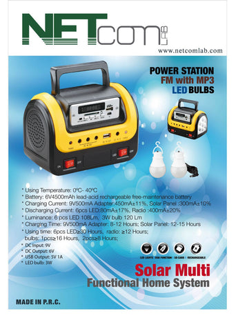 COV-35100 Power Station with Emergency lamp, Radio and USB