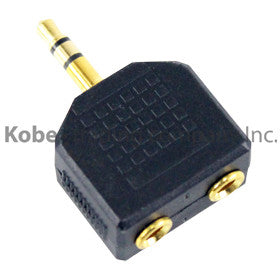 ADA-10105 Audio Adapter 3.5 mm Stereo Plug to Dual 3.5 mm Mono Jack - KobeUSA
