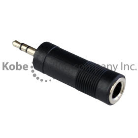 "ADA-10125 Audio Adapter 3.5 mm Stereo Male to 1/4"" Stereo Female - KobeUSA"