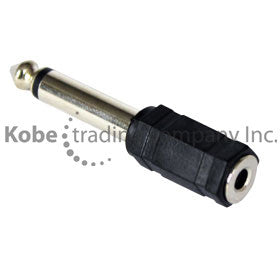 "ADA-10140 Audio Adapter 1/4"" (6.35mm) Mono Male to 3.5mm Mono Female - KobeUSA"