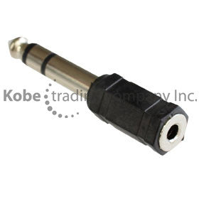 "ADA-10150 Audio Adapter 1/4"" (6.35mm) Stereo Male to 3.5mm Stereo Female - KobeUSA"