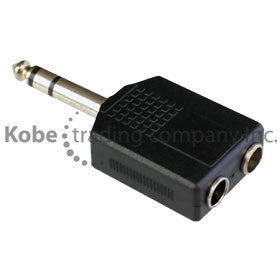 "ADA-10155 Audio Adapter 1/4"" (6.35mm) Stereo Male to Dual 1/4"" (6.35mm) Stereo Female - KobeUSA"