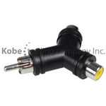 ADA-10163 Audio Adapter RCA Male to Dual RCA Female - KobeUSA