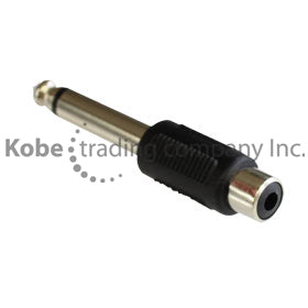 "ADA-10170 Audio Adapter 1/4"" (6.35mm) Mono Male to RCA Female - KobeUSA"