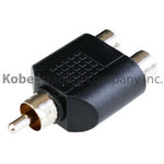 ADA-10240 Audio Adapter RCA Male to Dual RCA Female - KobeUSA