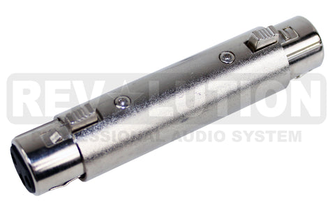 ADA-10250 Metal Adapter 3P XLR Female to 3P XLR Female - KobeUSA