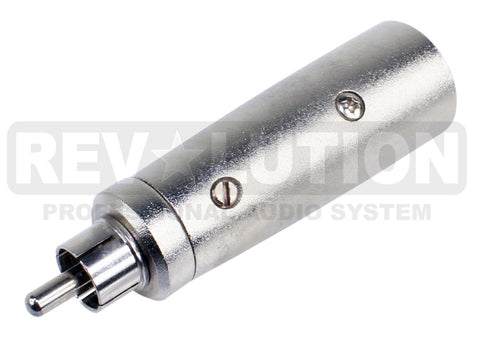 Metal Adapter 3P XLR Male to RCA Male - REVOLUTIONPRO
