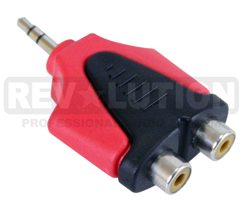 ADA-20205 Adapter 3.5mm Stereo Plug to Dual RCA Jack - KobeUSA
